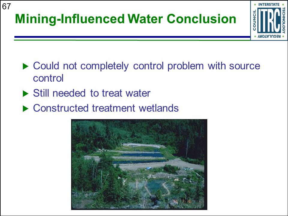 Mining-Influenced Water Conclusion