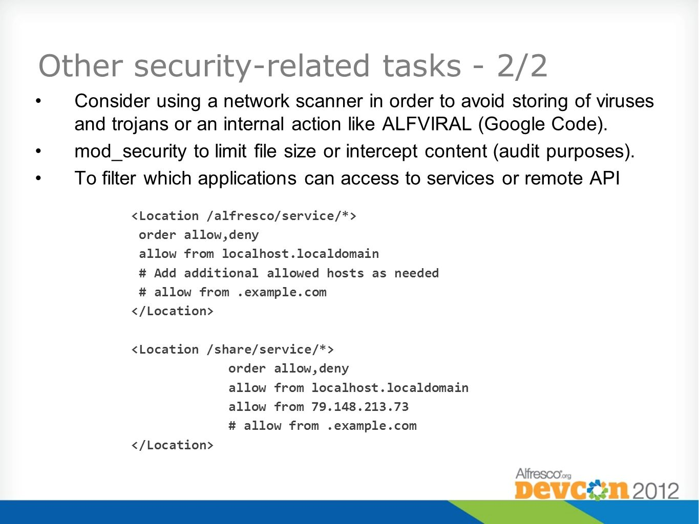 Other security-related tasks - 2/2
