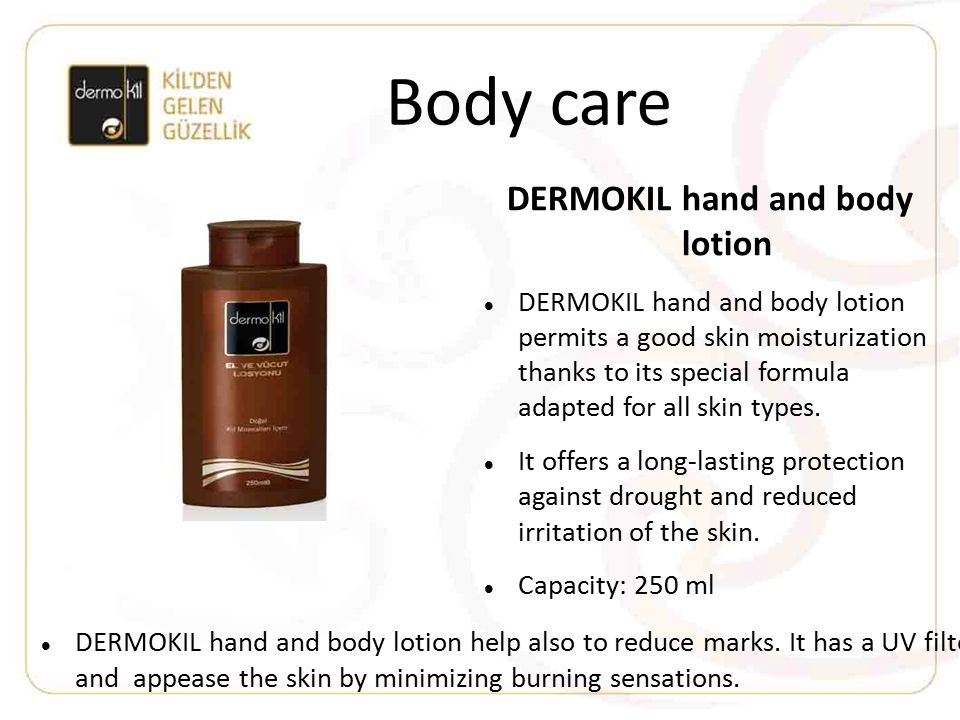 DERMOKIL hand and body lotion