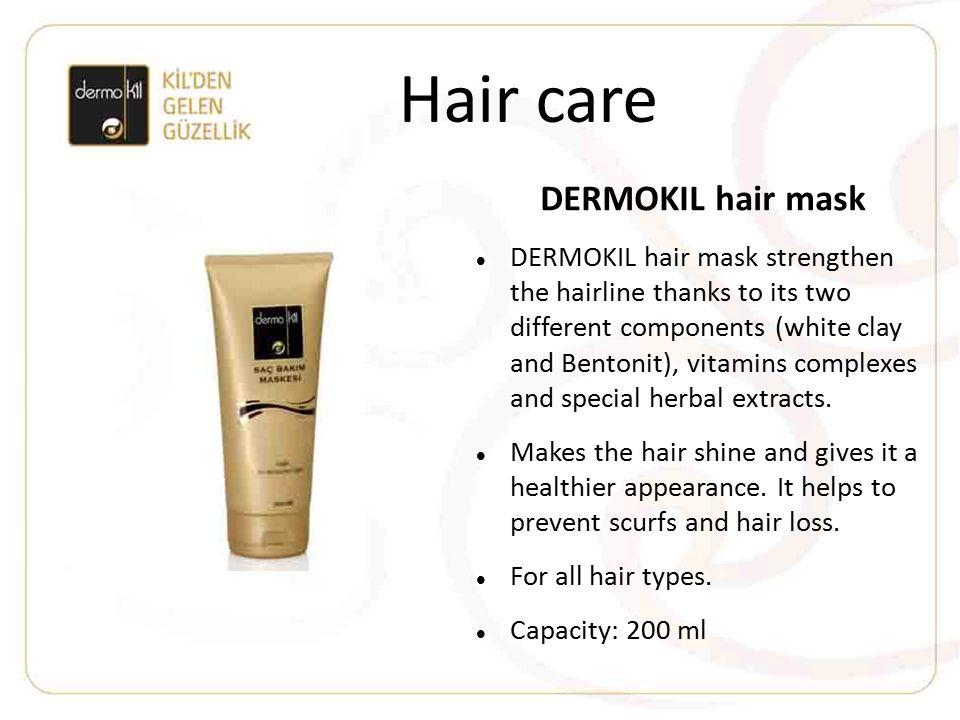 Hair care DERMOKIL hair mask