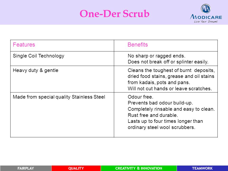 One-Der Scrub Features Benefits Single Coil Technology