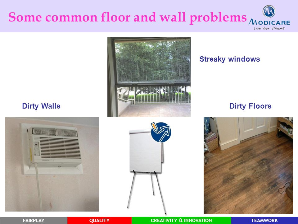 Some common floor and wall problems