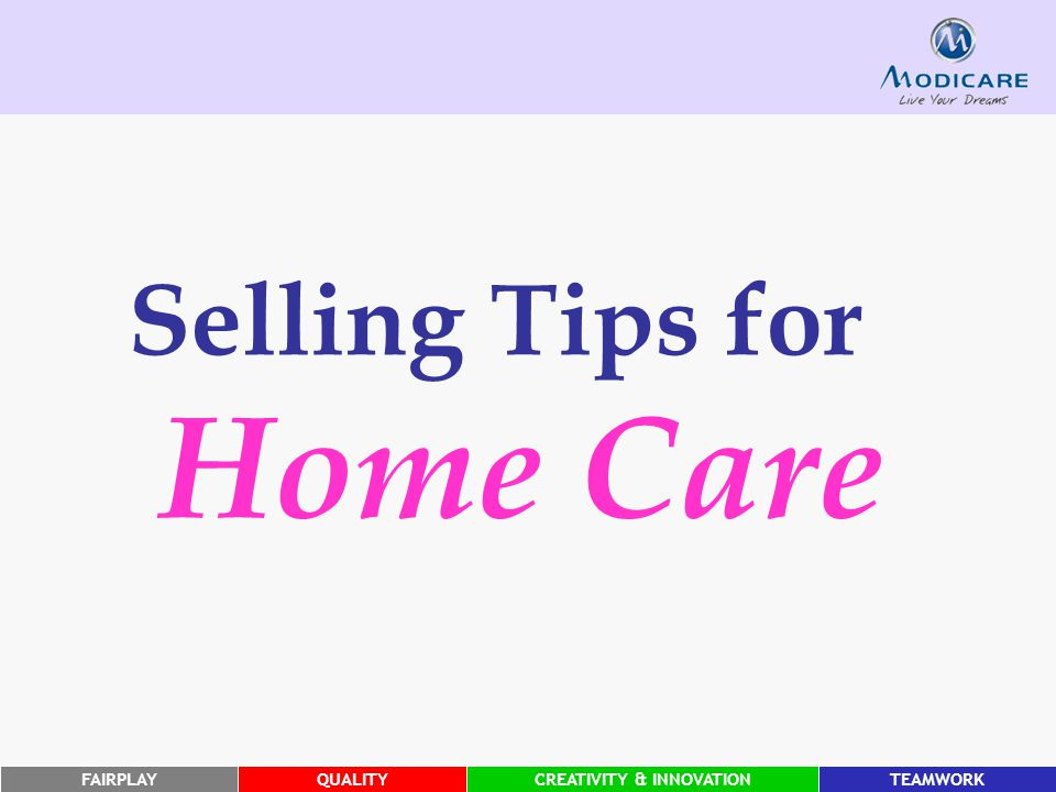 Selling Tips for Home Care