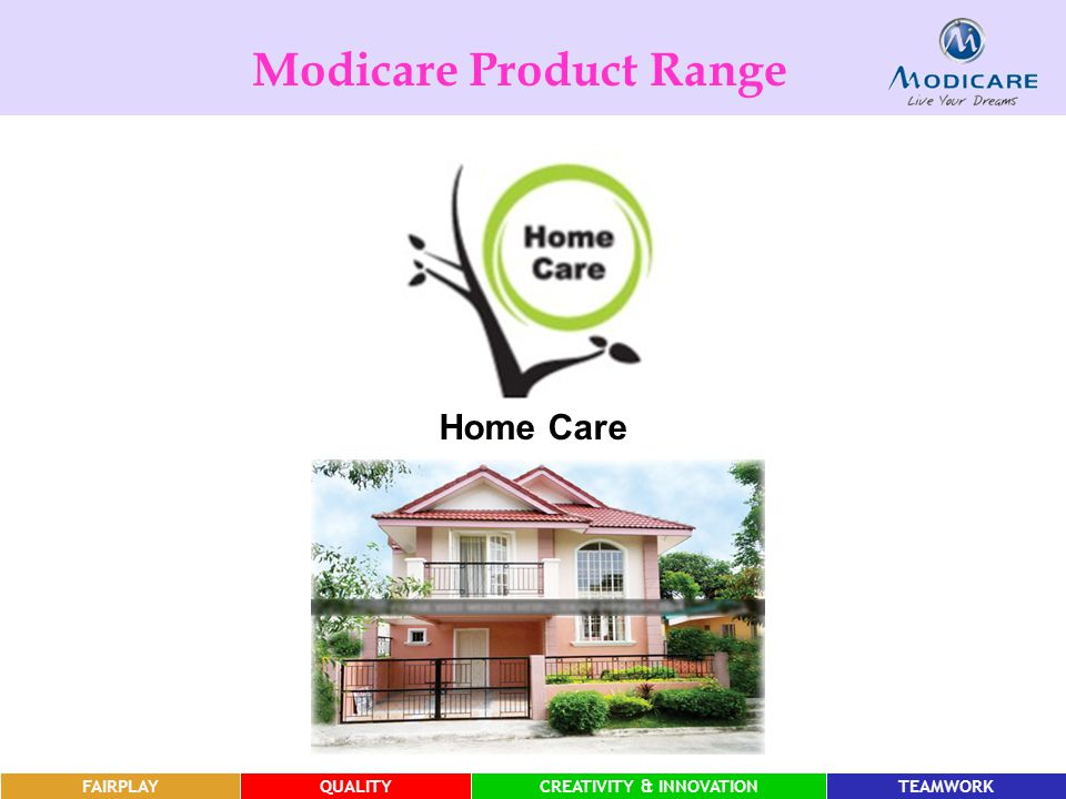 Modicare Product Range CREATIVITY & INNOVATION CREATIVITY & INNOVATION