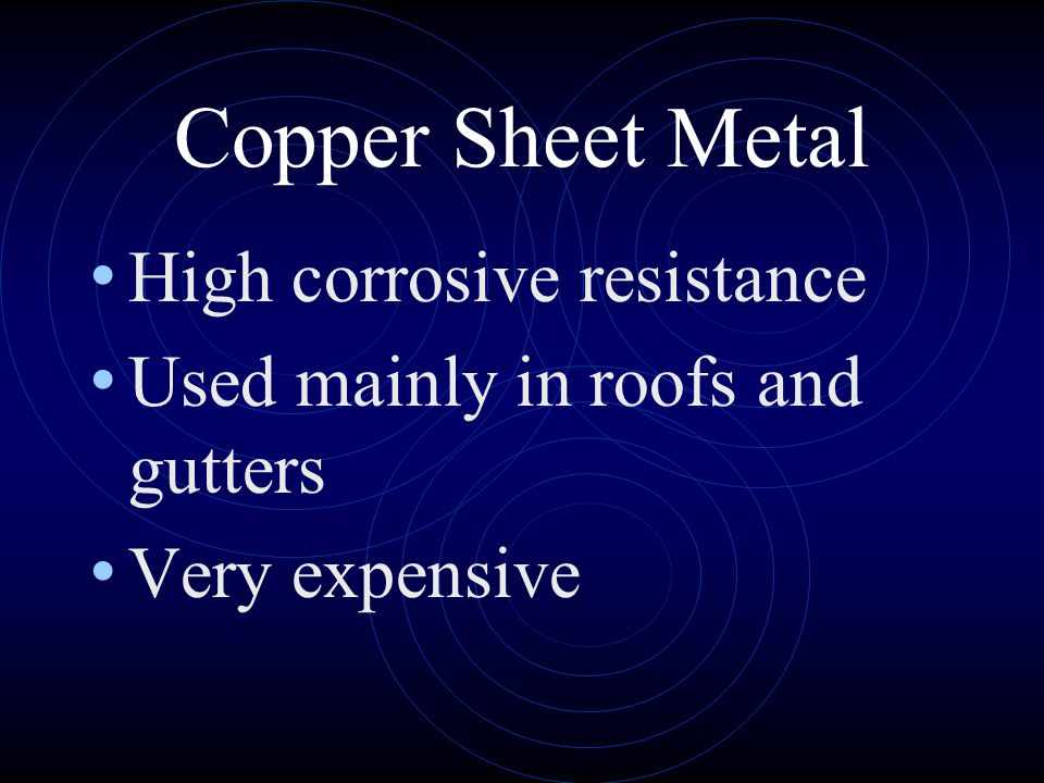 Copper Sheet Metal High corrosive resistance