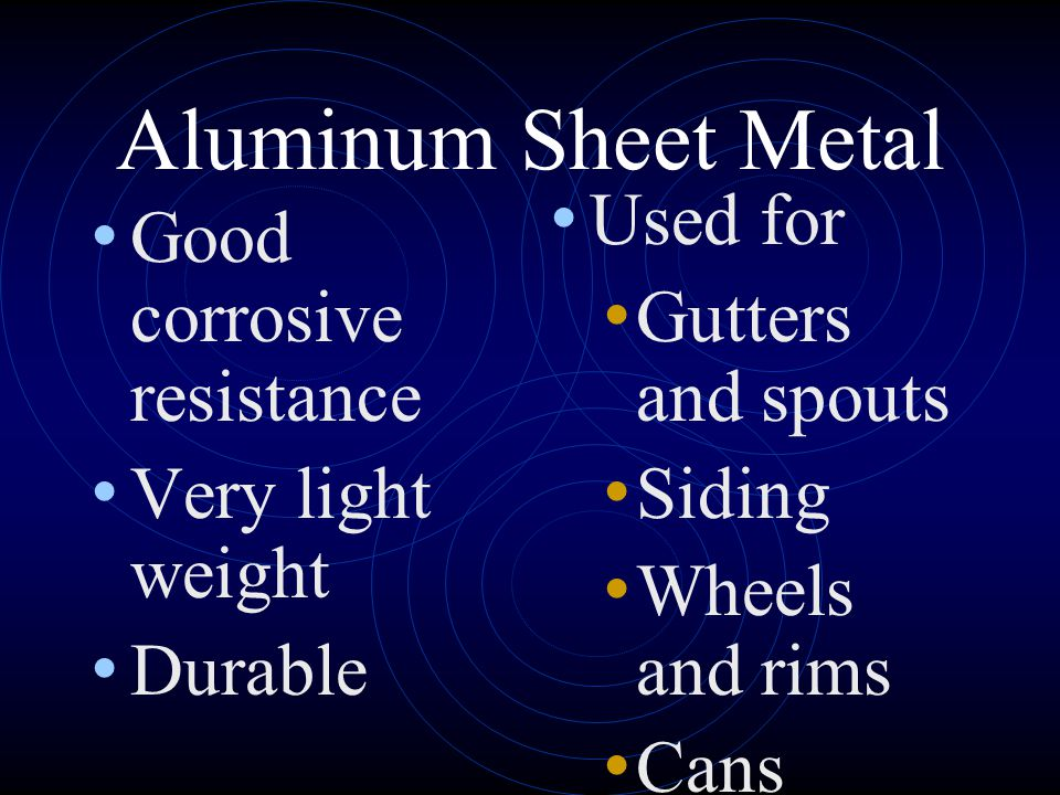 Aluminum Sheet Metal Used for Good corrosive resistance