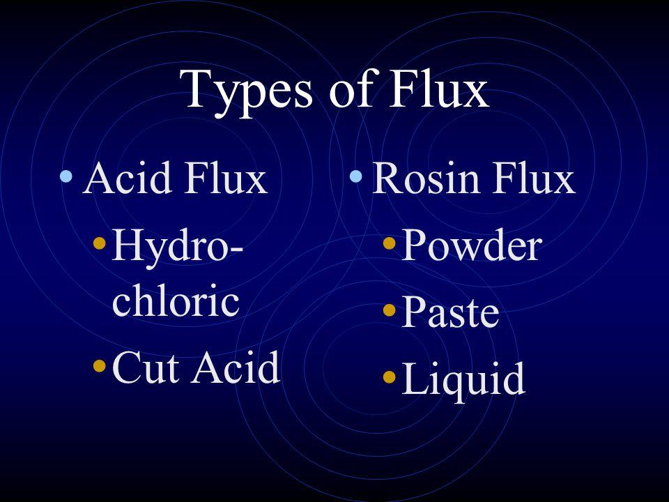 Types of Flux Acid Flux Hydro-chloric Cut Acid Rosin Flux Powder Paste