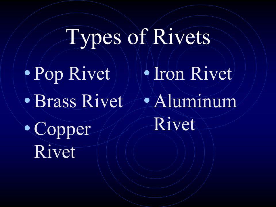 Types of Rivets Pop Rivet Brass Rivet Copper Rivet Iron Rivet