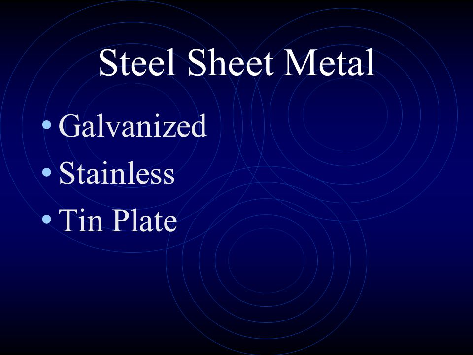 Steel Sheet Metal Galvanized Stainless Tin Plate