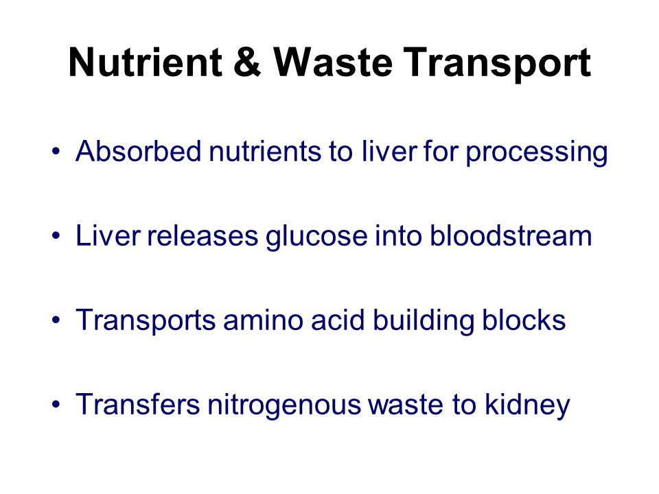 Nutrient & Waste Transport