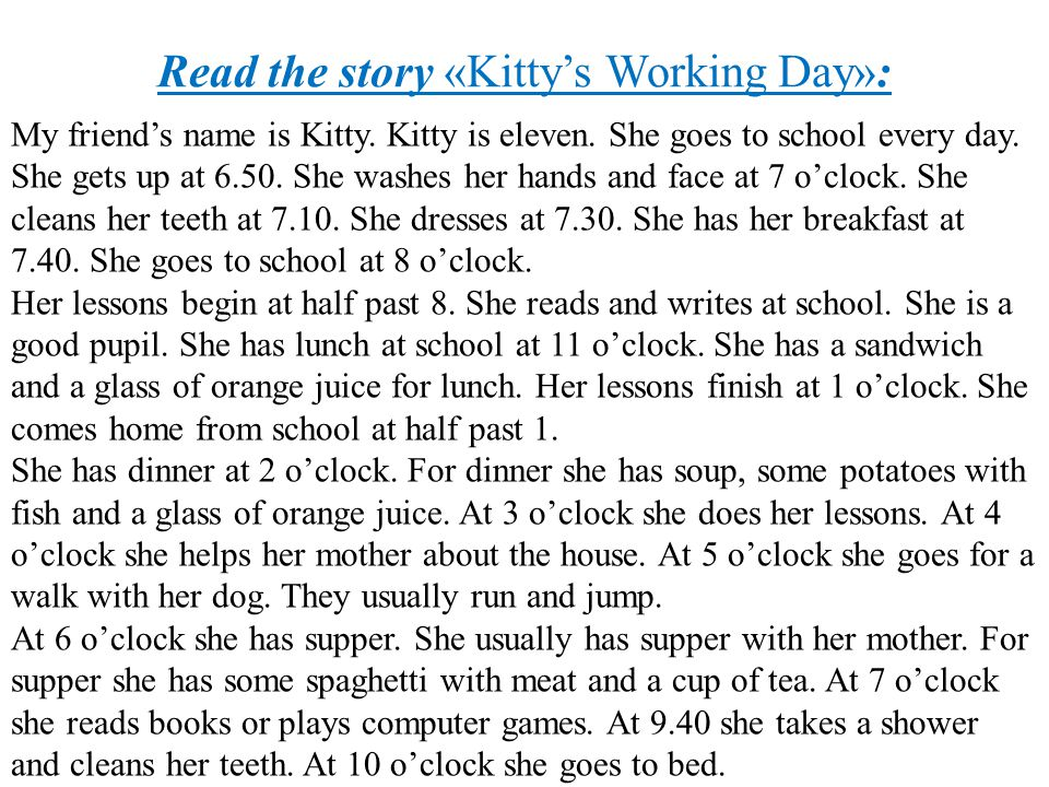 Read the story «Kitty's Working Day»: