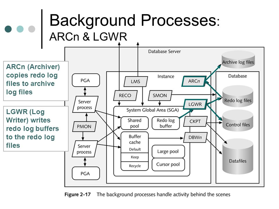 Background Processes: ARCn & LGWR