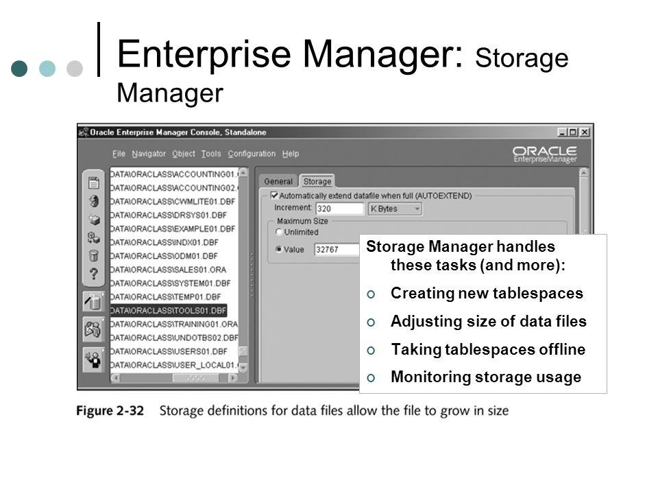 Enterprise Manager: Storage Manager