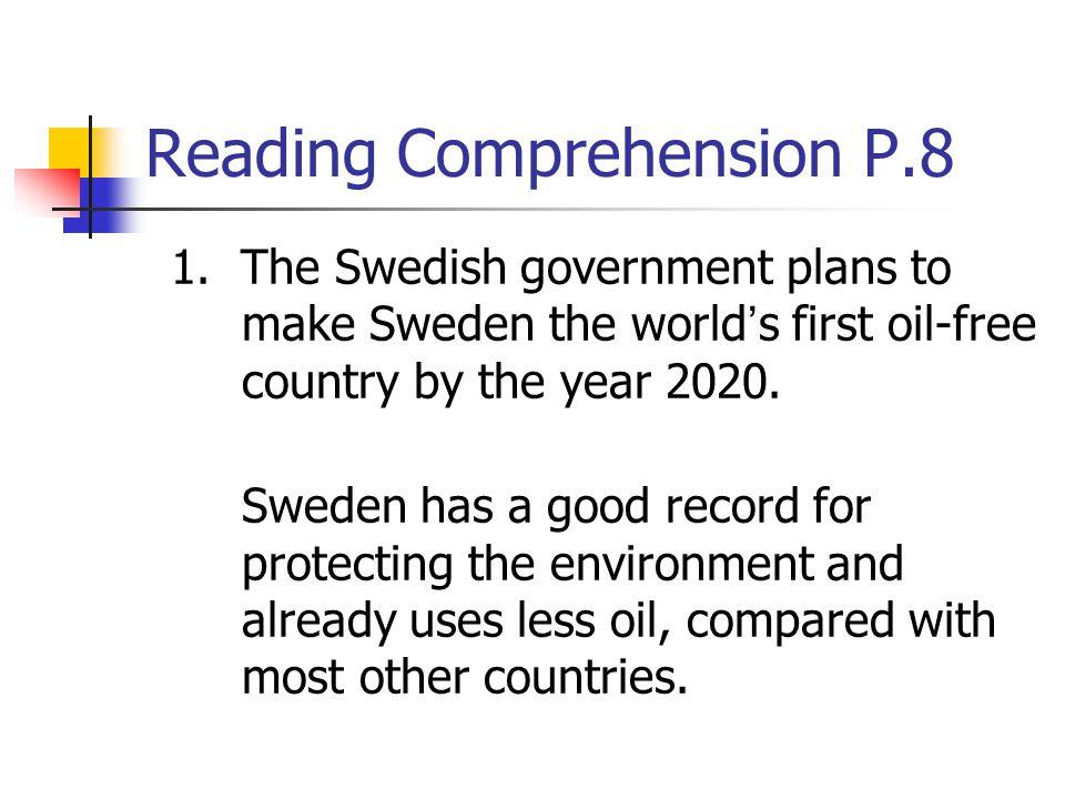 Reading Comprehension P.8
