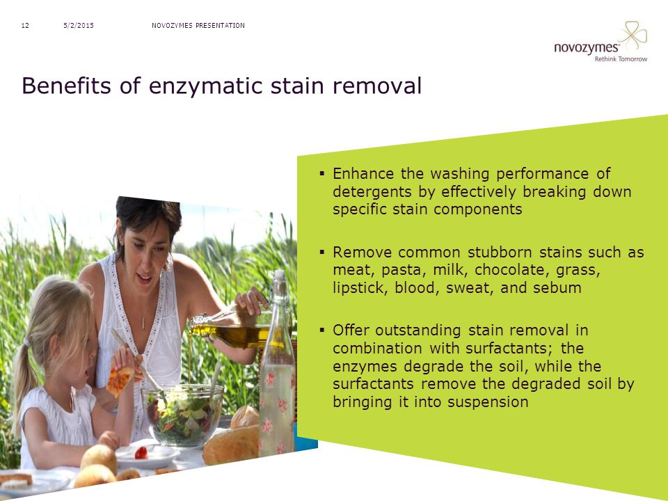 Benefits of enzymatic stain removal