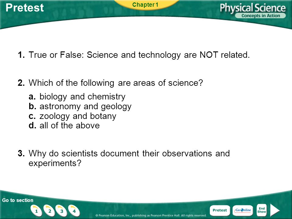 Pretest 1. True or False: Science and technology are NOT related.