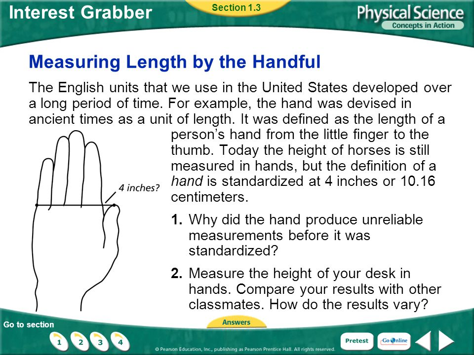 Measuring Length by the Handful