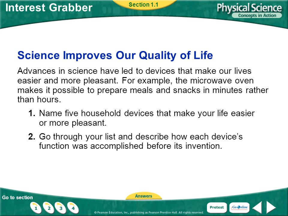 Science Improves Our Quality of Life