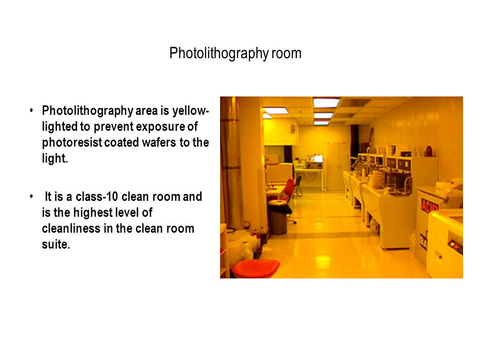 Photolithography room