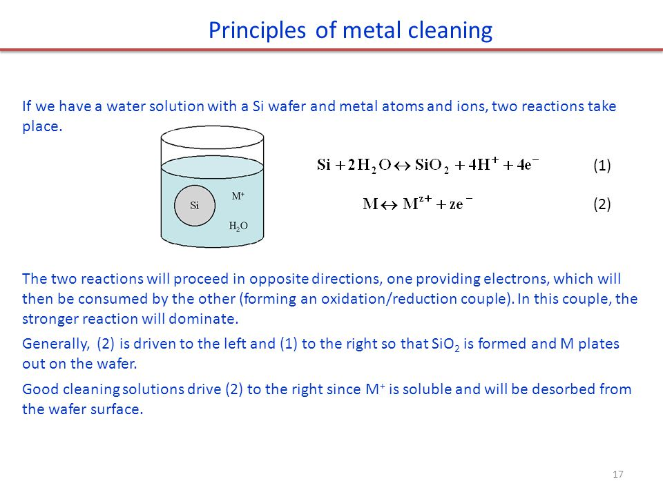 Principles of metal cleaning