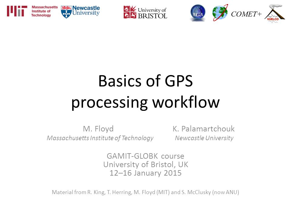 Basics of GPS processing workflow