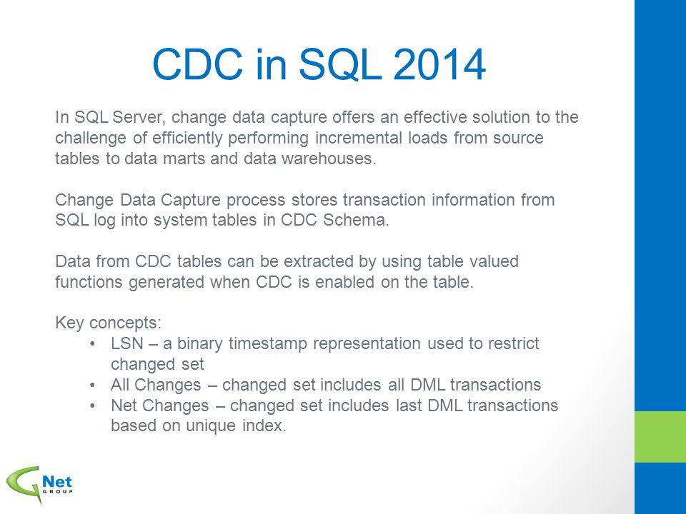 CDC in SQL 2014