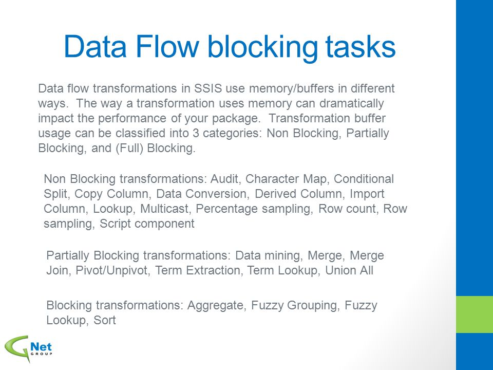 Data Flow blocking tasks