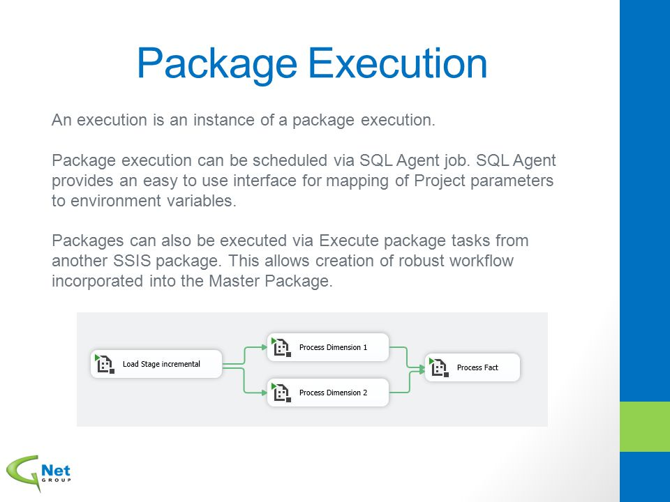Package Execution An execution is an instance of a package execution.
