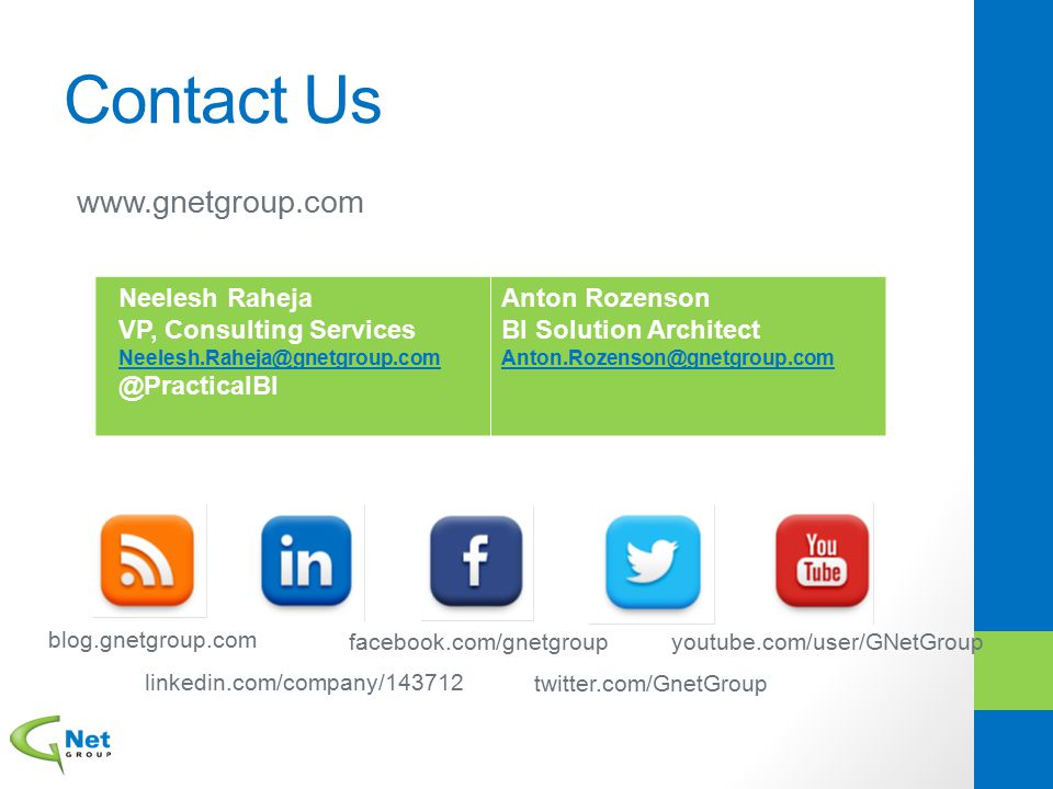 Contact Us www.gnetgroup.com Neelesh Raheja VP, Consulting Services