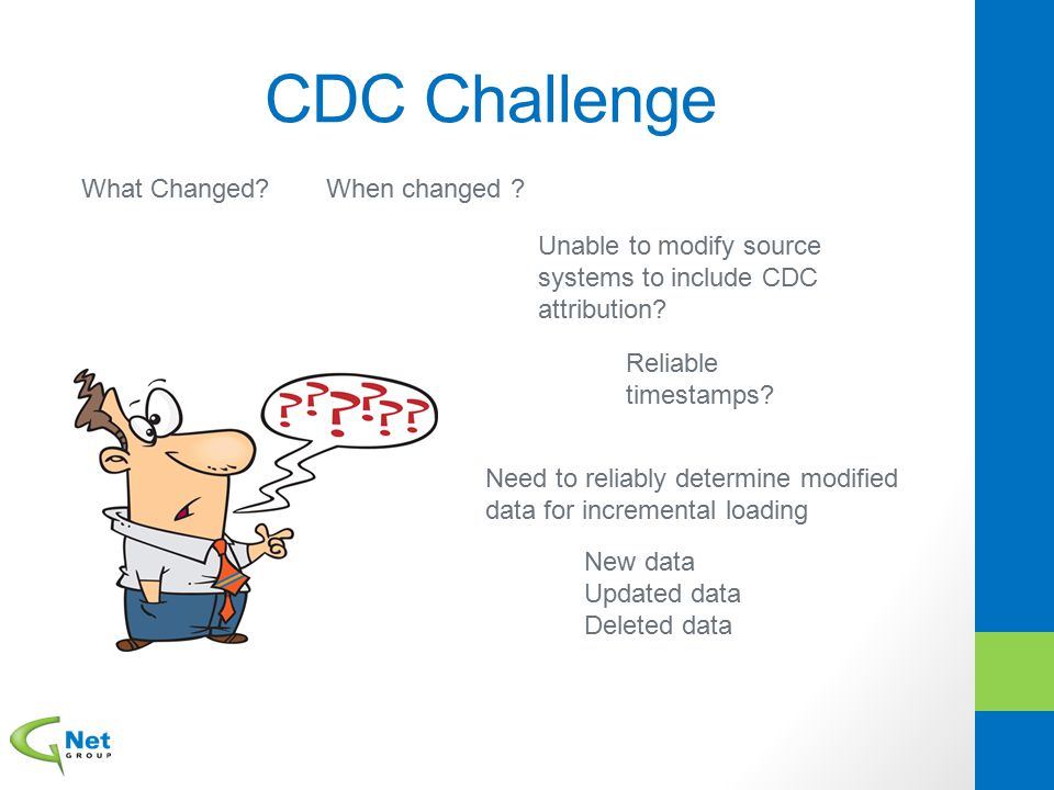 CDC Challenge What Changed When changed