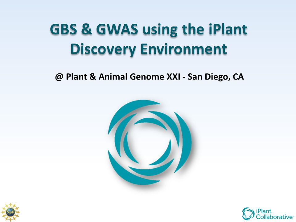 GBS & GWAS using the iPlant Discovery Environment