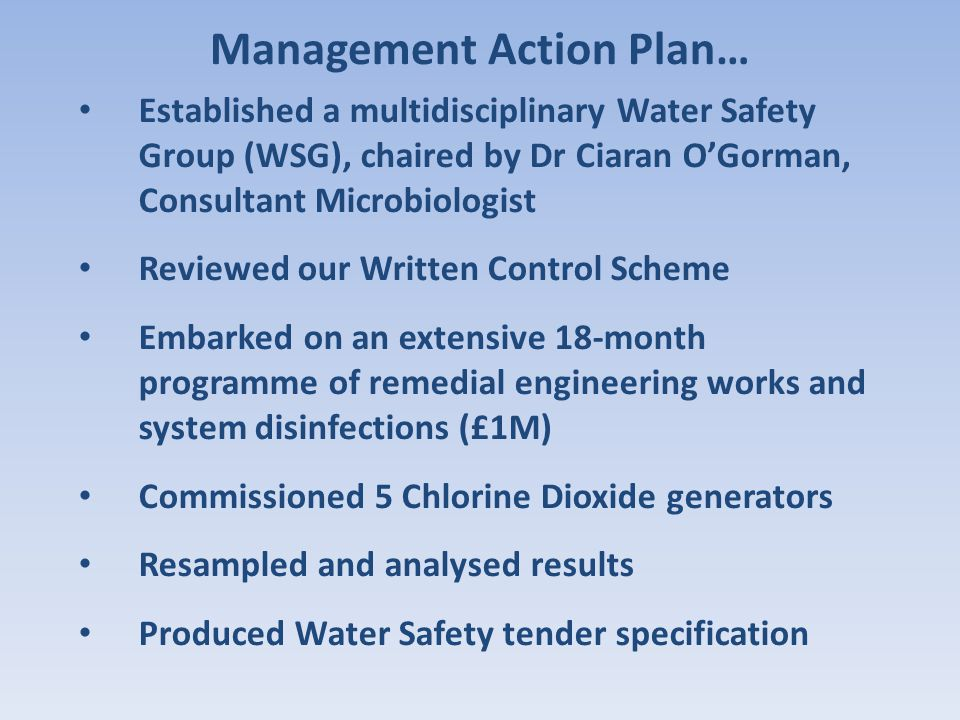 Management Action Plan…