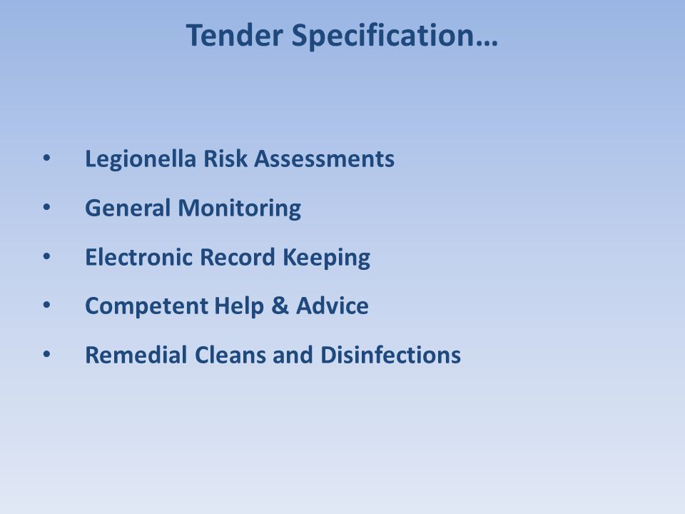 Tender Specification…