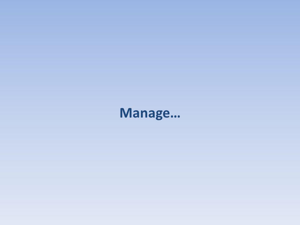 Manage…