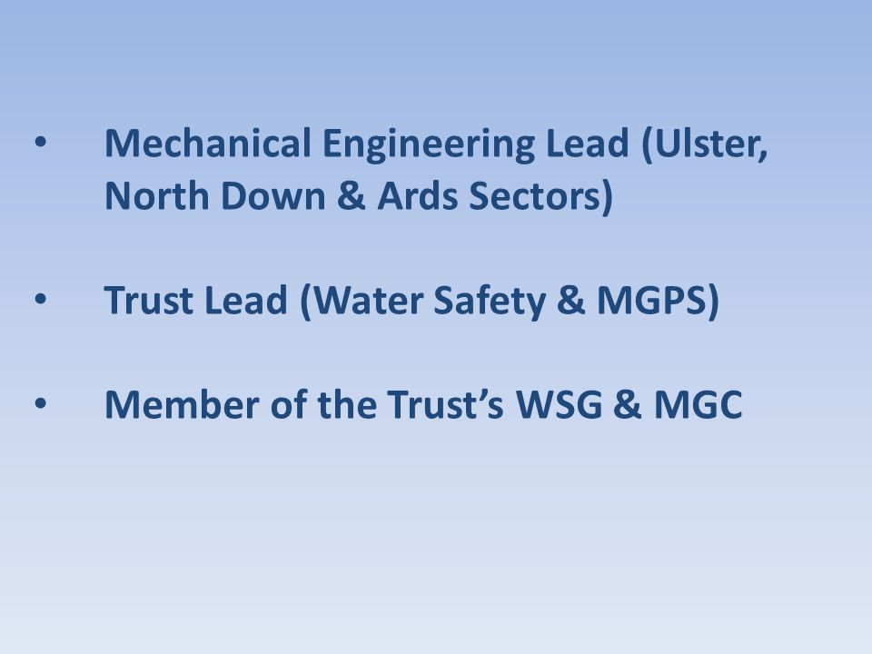 Mechanical Engineering Lead (Ulster, North Down & Ards Sectors)