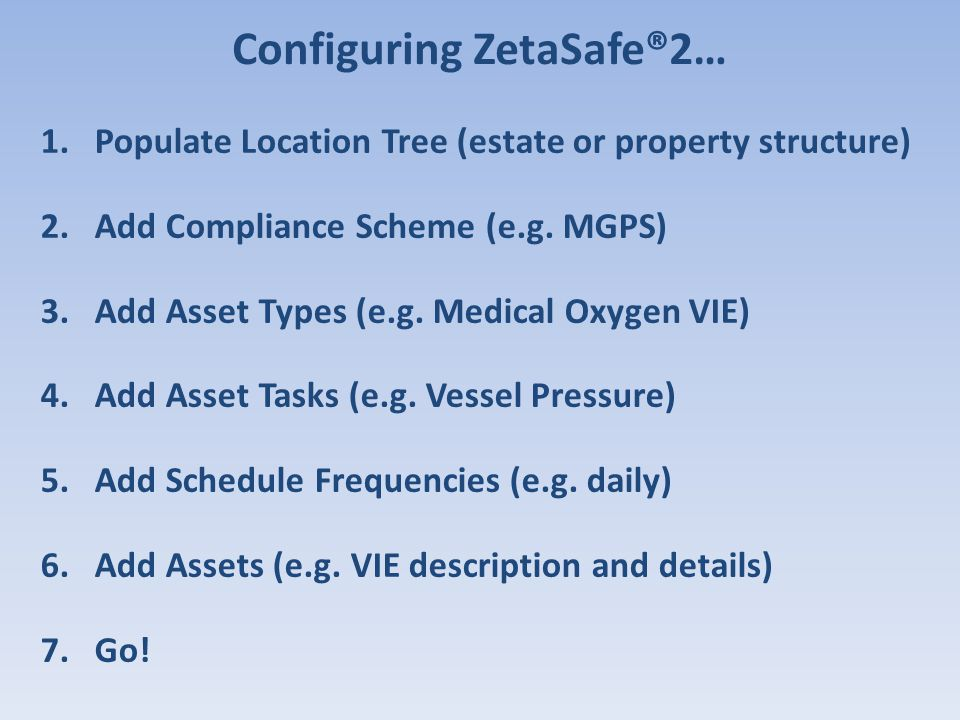 Configuring ZetaSafe®2…