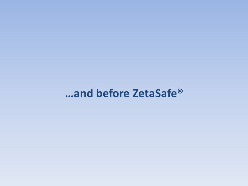 …and before ZetaSafe®