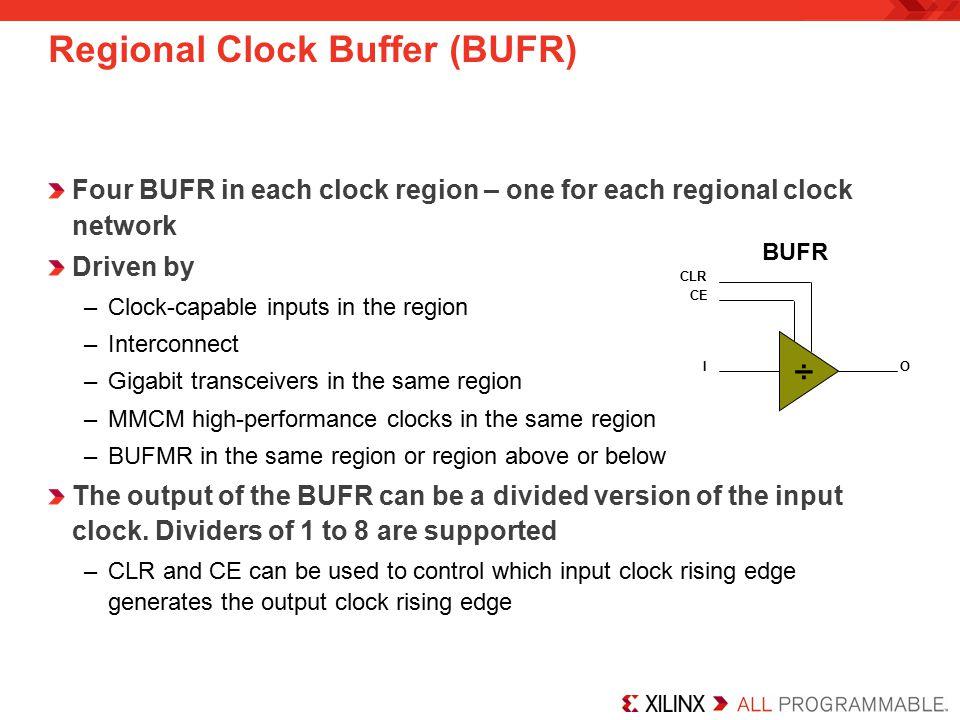 Regional Clock Buffer (BUFR)