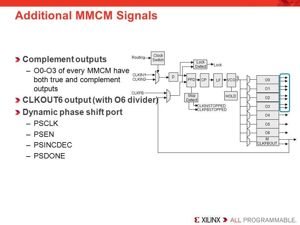 Additional MMCM Signals