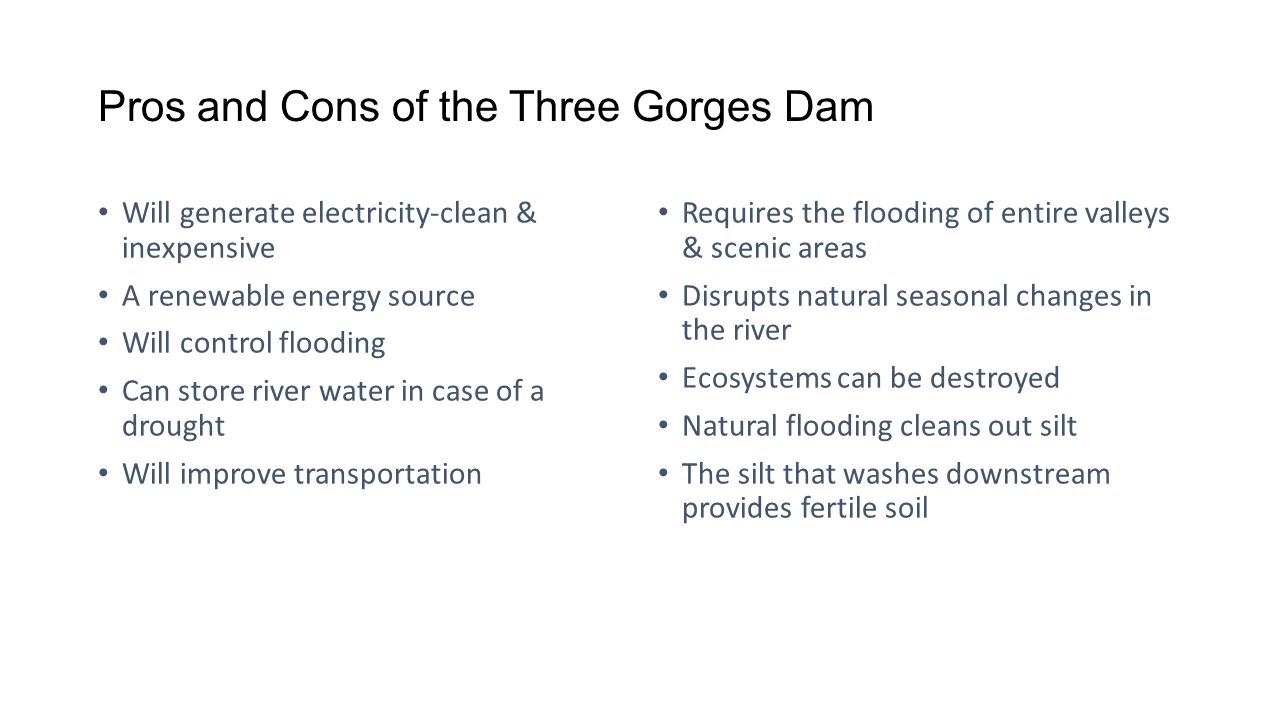 Pros and Cons of the Three Gorges Dam