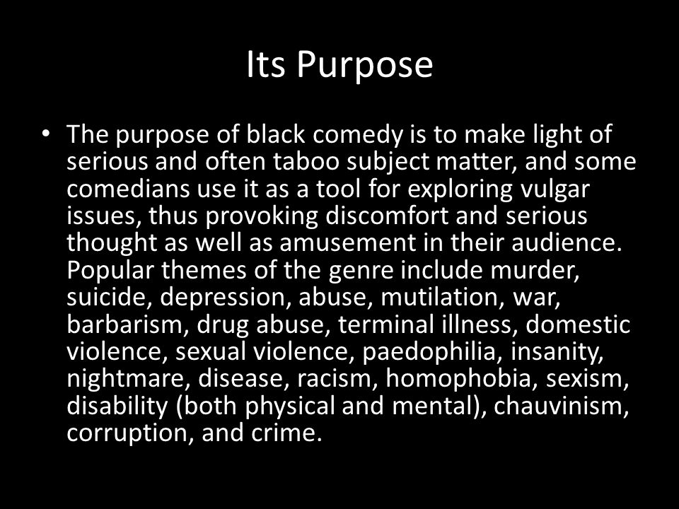Its Purpose
