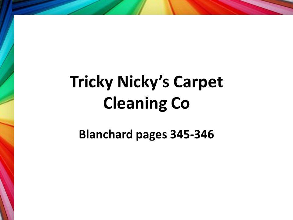 Tricky Nicky's Carpet Cleaning Co