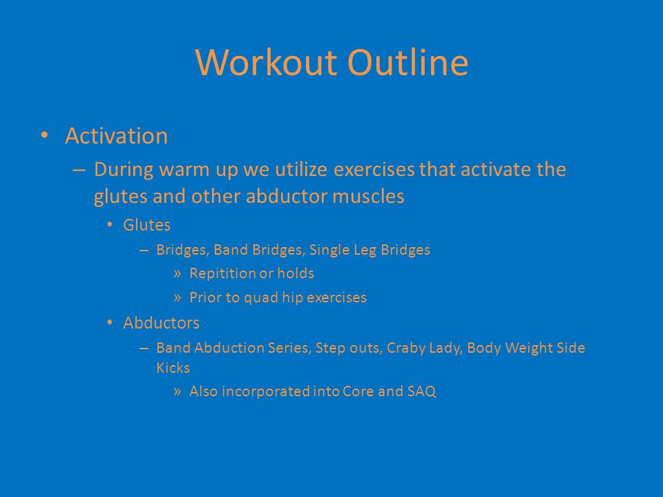 Workout Outline Activation