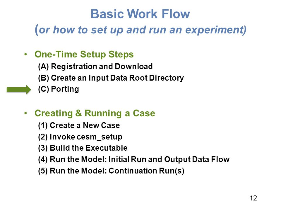 Basic Work Flow (or how to set up and run an experiment)