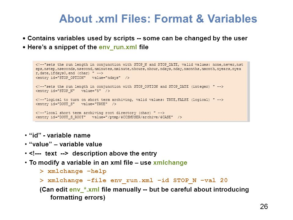 About .xml Files: Format & Variables