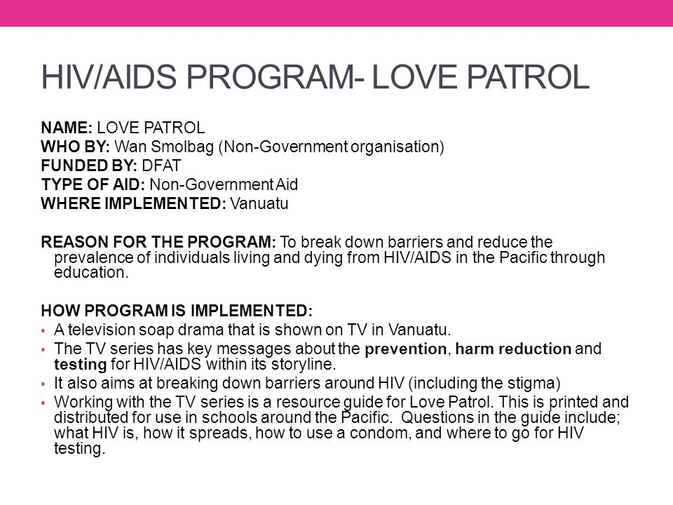 HIV/AIDS PROGRAM- LOVE PATROL