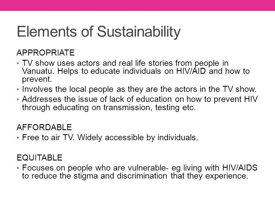 Elements of Sustainability