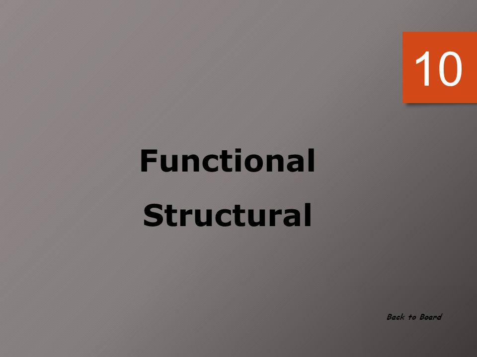 10 Functional Structural Back to Board