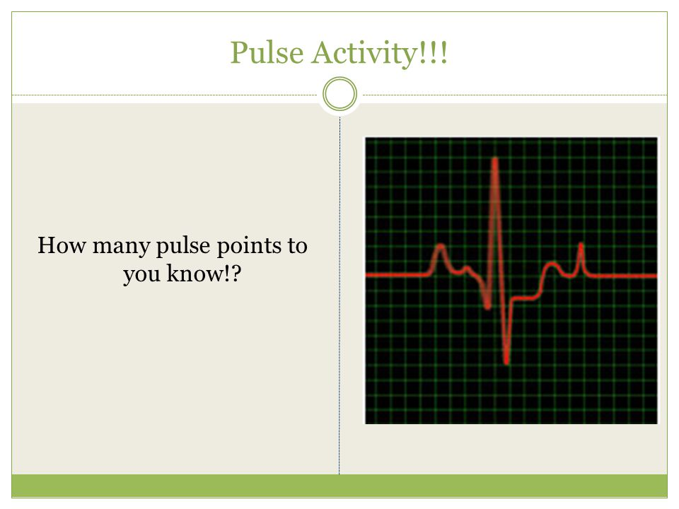 How many pulse points to you know!