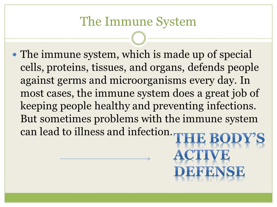 THE BODY'S ACTIVE Defense